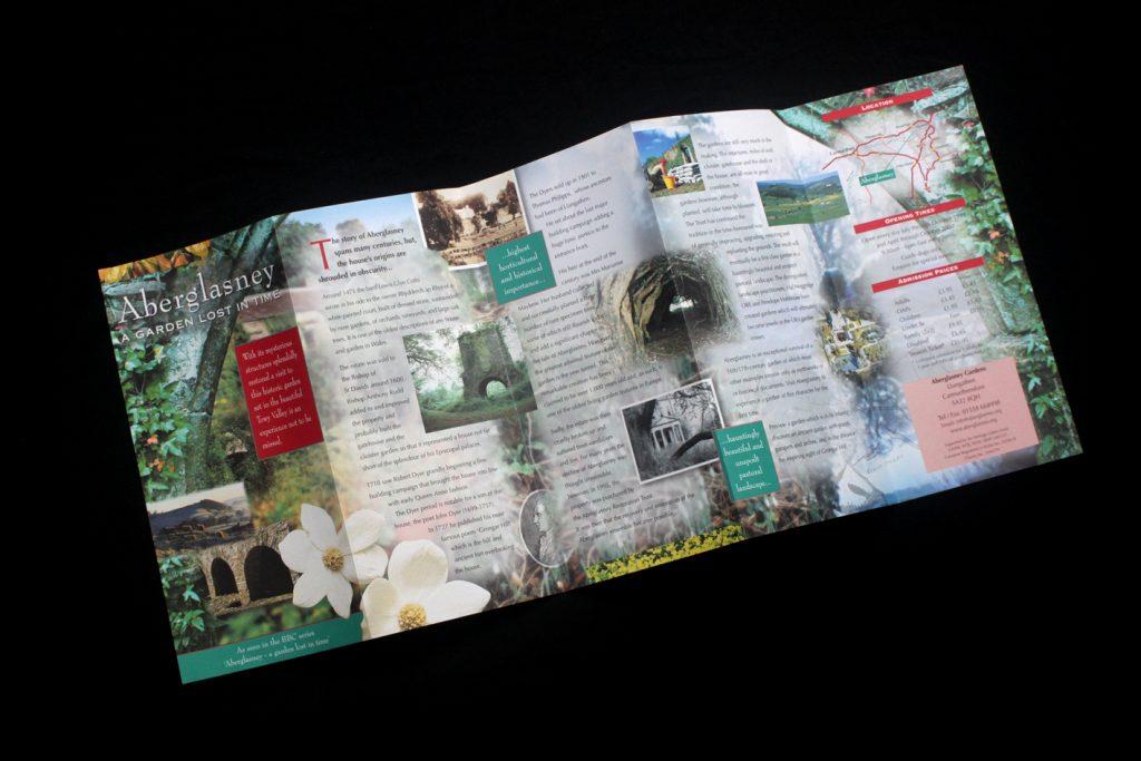 Aberglasney rack leaflet.