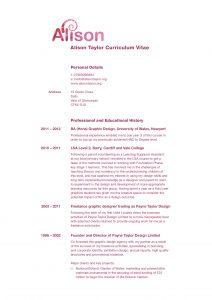 Alison CV page 1